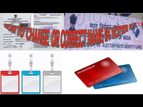 How To Change / Correction Name In Voter Id Card Online |Hindi|