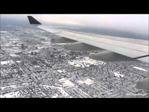Air Canada A330-300 Amazing Snowy Landing at Toronto International Airport