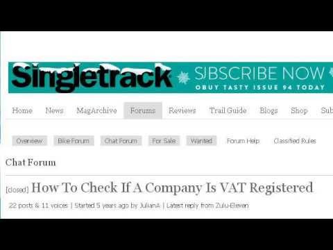 How To Check A Company's VAT Number