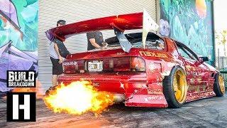 Hert Shreds His Fire Breathing Rotary Powered Mazda RX7 - The Twerkstallion!