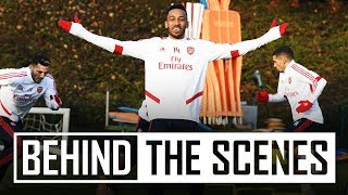 Mini-match and drills | Behind the scenes at Arsenal training centre