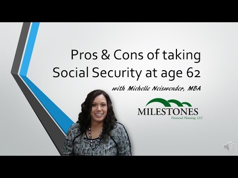 Pros & Cons of taking Social Security at 62
