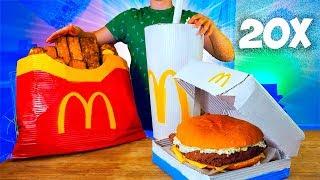 УВЕЛИЧИЛИ МЕНЮ McDonald's в 20 раз / ОГРОМНАЯ КАРТОШКА ФРИ / ГИГАНТСКИЙ ФИЛЕ-О-ФИШ/  КОКА-КОЛА /