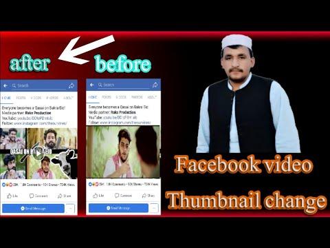 Facebook video Thumbnail change