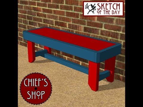 Chief's Shop Sketch of the Day: Sidewalk Bench