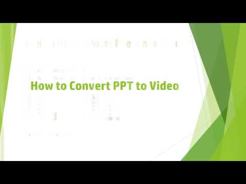 How to Convert PPT to Video