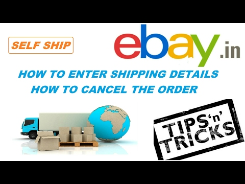 Ebay # How to update your first order, how to enter awb number, how to cancel order (hindi 2017)