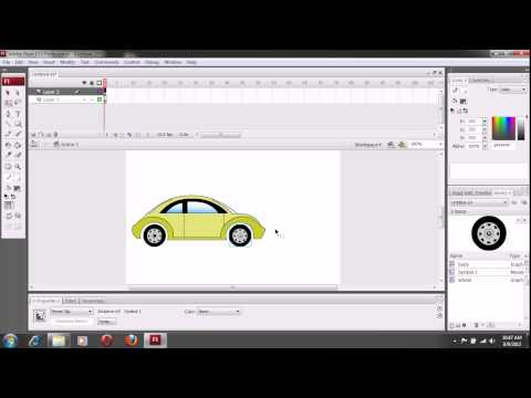 How to make moving car in Flash
