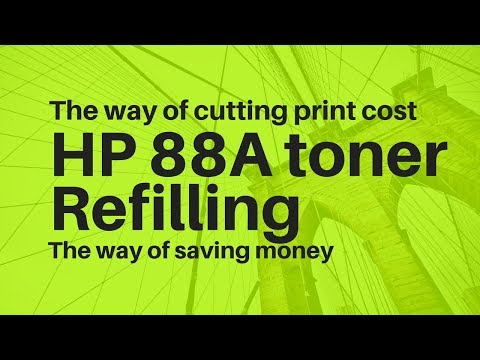 Refilling or recycle hp 88a toner