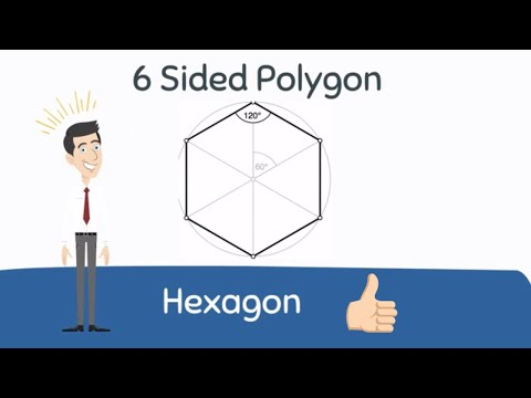Hexagon Shape | A 6 sided Polygon|