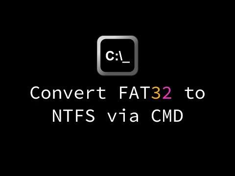 Convert FAT32 to NTFS via CMD