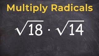 Algebra 1 Multiplying Radicals And Then Simplifying Online Math Tutor