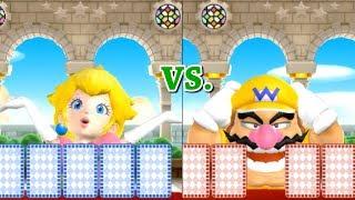 Mario Party 9 Step It Up - Peach vs Wario vs Magikoopa vs Shy Guy| Master Difficulty Cartoons Mee