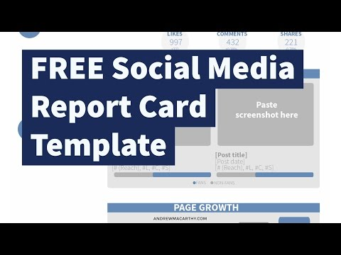 FREE Social Media Report Card Template (Photoshop .psd)