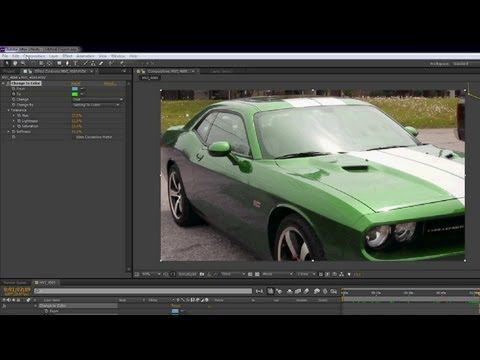 Color Changing Car - After Effects Tutorial