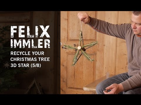 Recycle your used Christmas Tree (5/8) - How to carve a Star