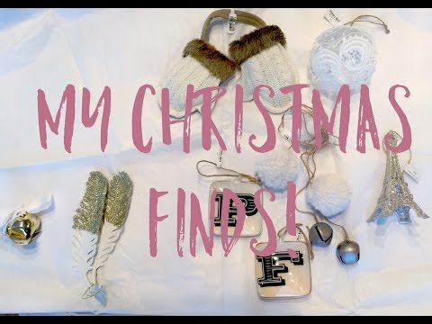 My FINDS! Pottery Barn & Target Christmas Ornaments 2015 - Black Friday
