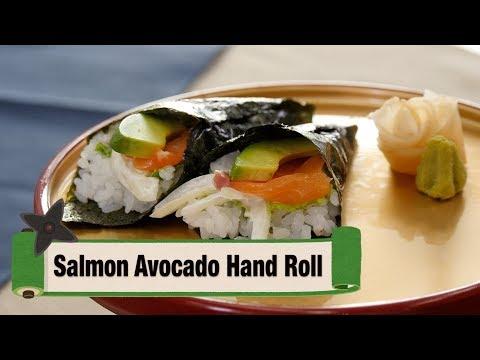 Salmon Avocado Hand Roll / 手巻き寿司