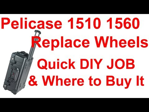 How to Replace Upgrade Wheels Pelican Peli 1510 1514 1560 1564 Hard Case replacement tutorial