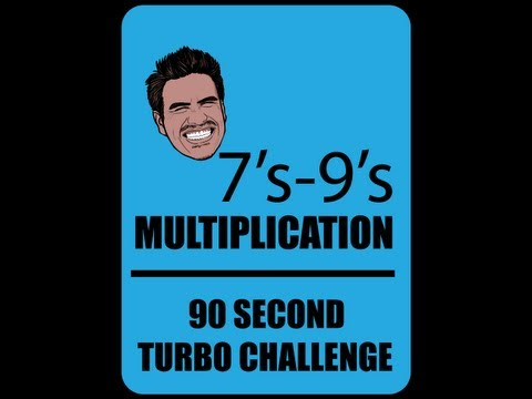 Multiplication Math Facts 7's-9's | Mister C