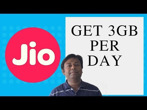 Jio plans to get 3GB per day