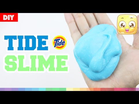 How To Make Slime With TIDE and GLUE DIY Without Borax, Liquid Starch, Eye Drops, Shampoo