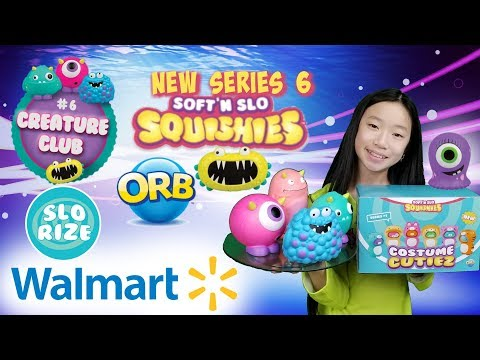 NEW SOFT'N SLO SQUISHIES AT WALMART!!! SERIES 6 CREATURE CLUB SOFT'N SLO SQUISHIES BY ORB
