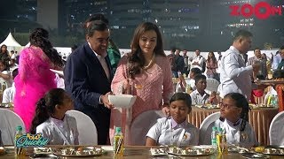 Ambani family serve food to underprivileged kids as part of