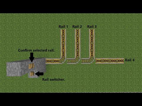 Minecraft Redstone Minecart Station Destination Selector