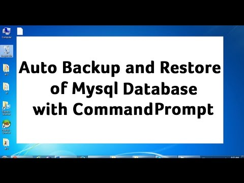 Auto Backup and Restore of Mysql Database using Command Prompt