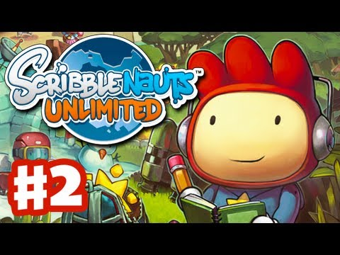 Scribblenauts Unlimited - Gameplay Walkthrough Part 2 - Capital City Firehouse (PC, Wii U, 3DS)