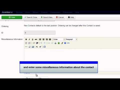 Joomla 3 0   Add a Contact Form x264