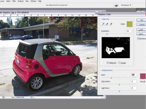 How To Change Color Of A Car In Photoshop CS3