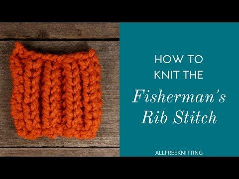 How to Knit the Fisherman's Rib Stitch
