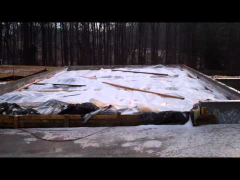 Garage Addition - Foundation Walls & Garage Slab Prep