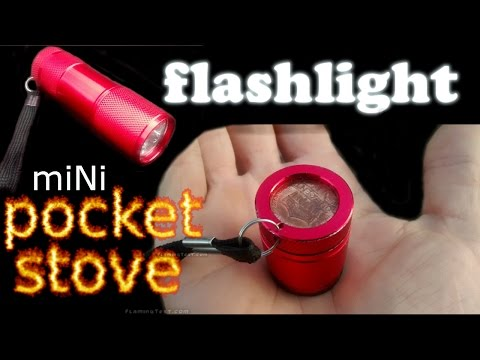 MOST FUEL EFFICIENT ALCOHOL STOVE Ultralight Mini Micro Alcohol POCKET SIZE/KEYCHAIN STOVE
