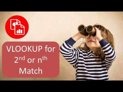 Use VLOOKUP to Find the 2nd Match (or nth Match)