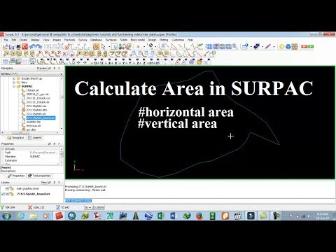 How to calculate area in SURPAC