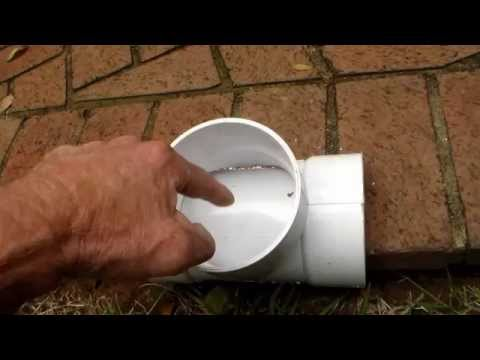 How To Install Clean Out on Sewer or French Drain