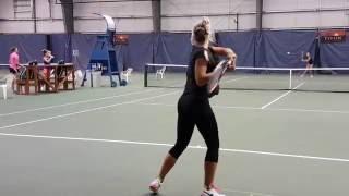 Nicole Frenkel and Fanni Stollar Training