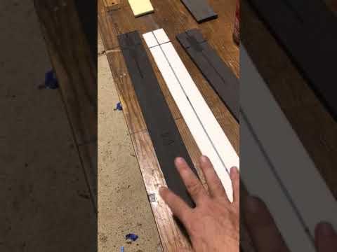 Larp Eva weapon making - making a sword blank