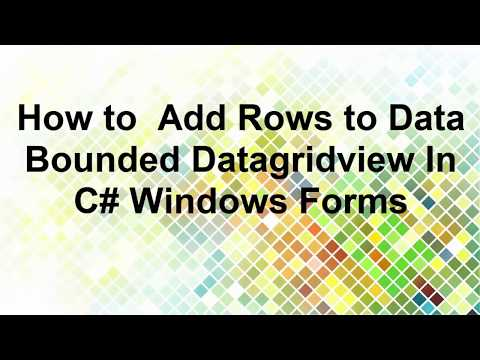 Insert Row into DataBound DataGridView in C#  Windows Forms