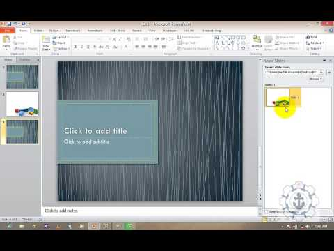 Introduction to how to use multiple Themes with in a Presentation