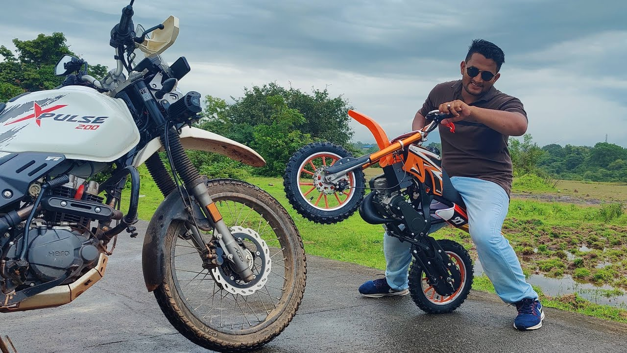 Taking Delivery Of My New 50cc Mini Petrol Dirt Bike Unboxing, Installation & Review