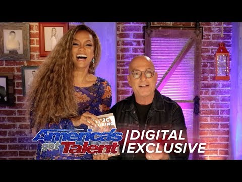 Tyra Banks Reacts To Howie Mandel Reading Her Book - America's Got Talent 2018