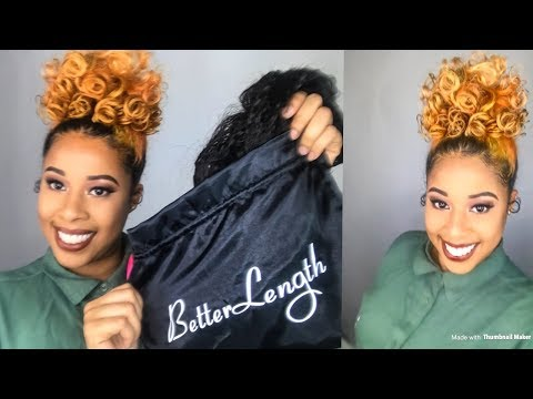 High Puff Using BetterLength Clip-ins/ First time using clip-ins