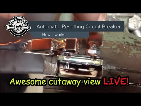 How a resetting circuit works! Inside cut away of the breaker actually tripping