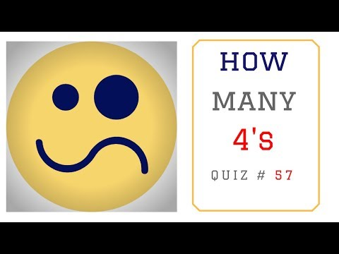 Math Puzzles with Answers in 60 seconds - How many 4's ?