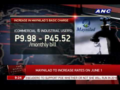 Maynilad to increase rates on June 1
