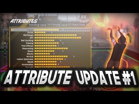 NBA 2K18 | STRETCH BIG CENTER ATTRIBUTE UPDATE JUMPSHOTS , BADGES , OVERALL , DRIBBLE MOVES